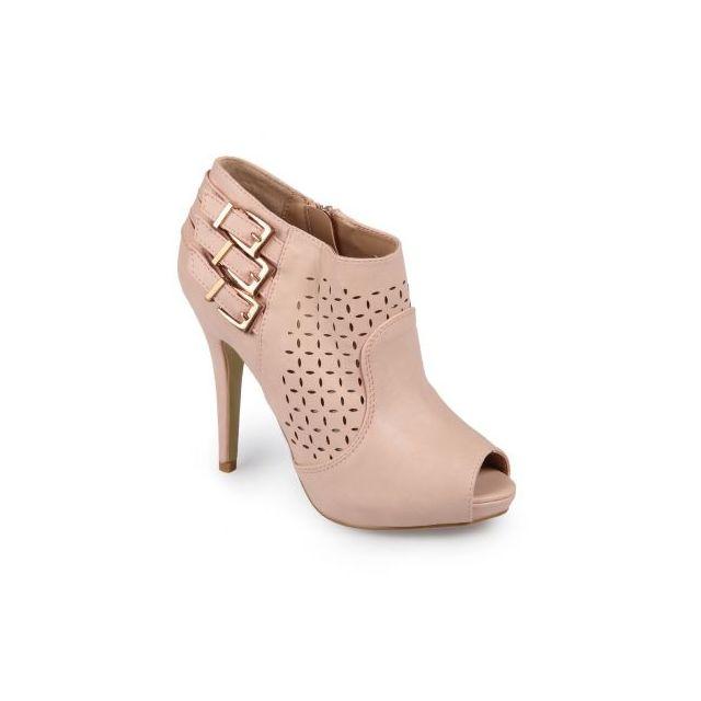 meilleure vente enfant magasin d'usine La Modeuse - Low boots ajourées rose - En Soldes - pas cher ...