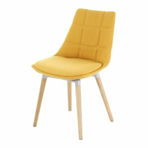 alin a joy chaise jaune moutarde avec pi tement ch ne design scandinave pas cher achat. Black Bedroom Furniture Sets. Home Design Ideas