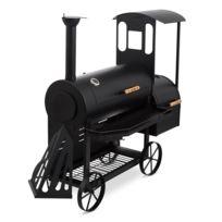 KLARSTEIN - Dampflok Smoker Grill à charbon fumoir sur roues cuve acier 3mm