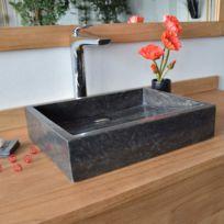 Ocean Line - Vasque à poser en marbre noir, Coreal