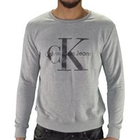 Calvin Klein - Sweat Shirt - Homme - Sweat Classic 01 - Gris Clair