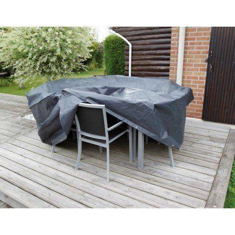 Ubbink - Housse de protection Ø 205 x H 90 cm pour salon de jardin ...