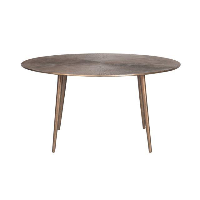Signature Table basse ronde en métal Soleil
