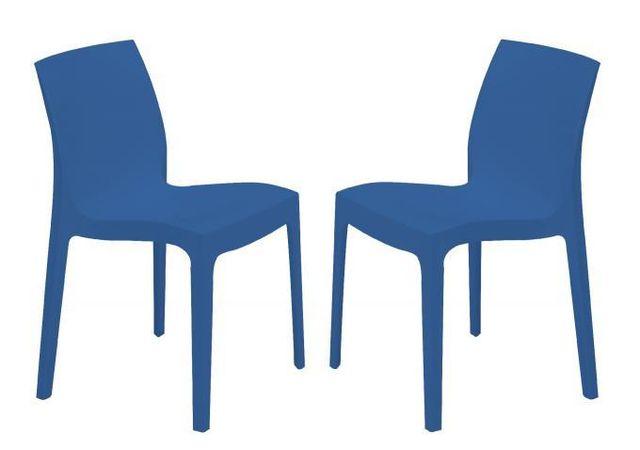 Declikdeco - Lot de 2 Chaises Design Bleues Istanbul