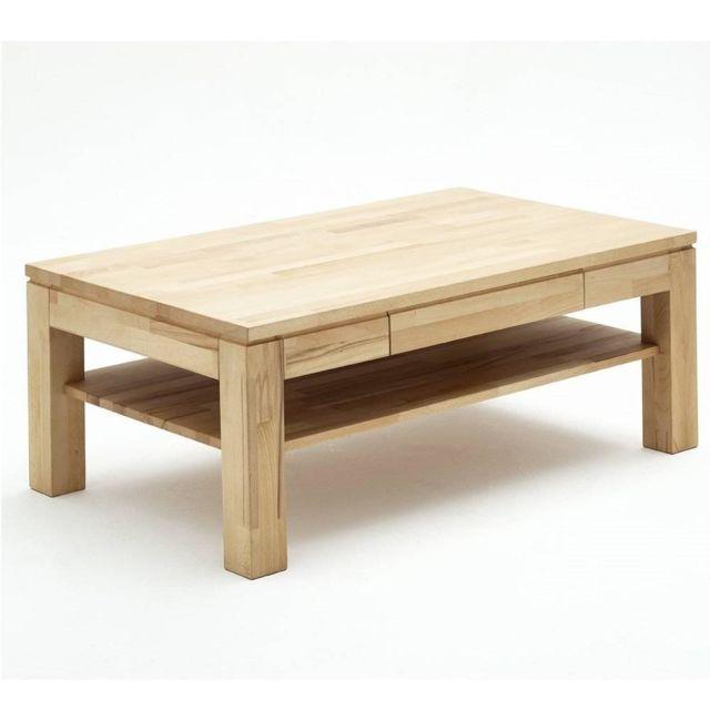 Inside 75 Table basse Juvisy 115 x 70 cm en hêtre massif ciré et huilé