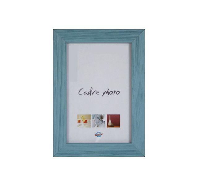 Ariane Cadre photo 15x21cm en bois bleu, coloris tendances
