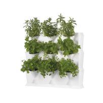 Minigarden - Vertical - Kit de Jardin Végétal Vertical Blanc à 3 niveaux - 9 modules
