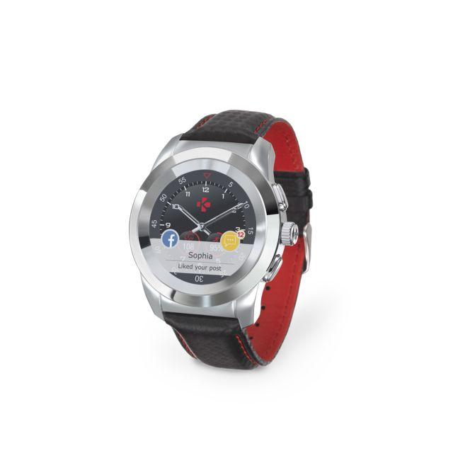 mykronoz montre connect e zetime premium black silver pas cher achat vente montre. Black Bedroom Furniture Sets. Home Design Ideas