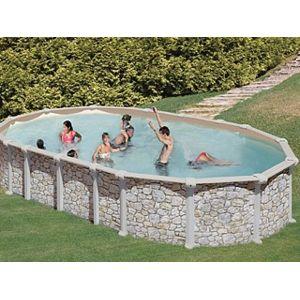 gr pools pool zen spa kit piscine hors sol acier gr dreampool mykonos ovale aspect pierre. Black Bedroom Furniture Sets. Home Design Ideas