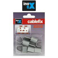 Inofix - Accessoires droits pour Cablefix 2202 gris metallisé