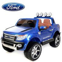 Ford - Voiture électrique enfant, 4x4 Ranger - 12V - 2 places siège en cuir - Bleu