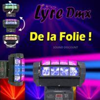 Afx - Jeux de lumiere professionnel 1 quad8fx light dmx puissants ! pa dj led mix sono bar club discotheque soiree dansante