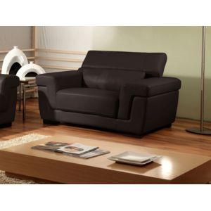 la maison du canap fauteuil cuir evasion marron pas. Black Bedroom Furniture Sets. Home Design Ideas