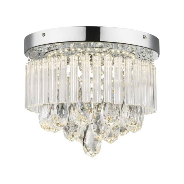 Globo Lighting - Plafonnier Led chrome 22x28x28cm Translucide - pas ...