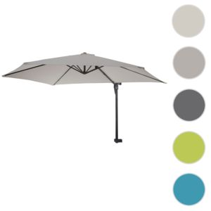 mendler parasol de mur casoria parasol d port pour balcon ou terrasse 3m inclinable sable. Black Bedroom Furniture Sets. Home Design Ideas
