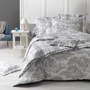 100pourcentcoton housse de couette 260x240 cm 2 taies d 39 oreiller 65 x 65cm fabrication. Black Bedroom Furniture Sets. Home Design Ideas