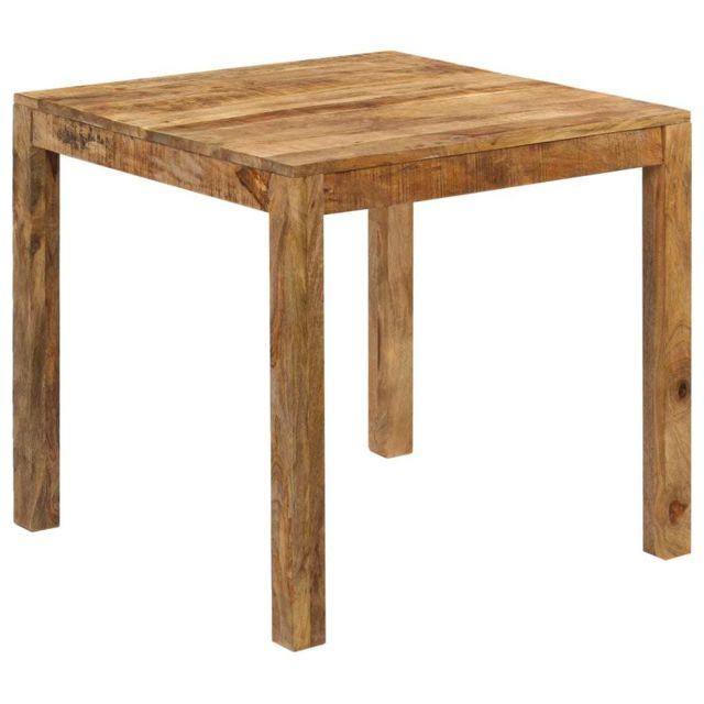 Esthetique Tables gamme Dili Table de salle à manger Bois de manguier massif 82x80x76 cm