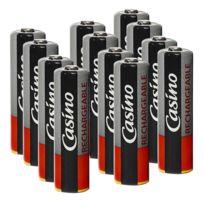 Casino-uniross - Uniross - Casino 3 paquets de 4 accus préchargés 1.2 V Ni-Mh - R6/AA rechargeables 2100 mAh étanches