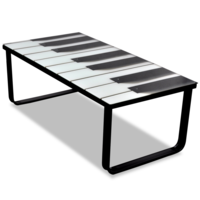 Vidaxl Table Basse En Verre Design Piano Multicolore 45cm X