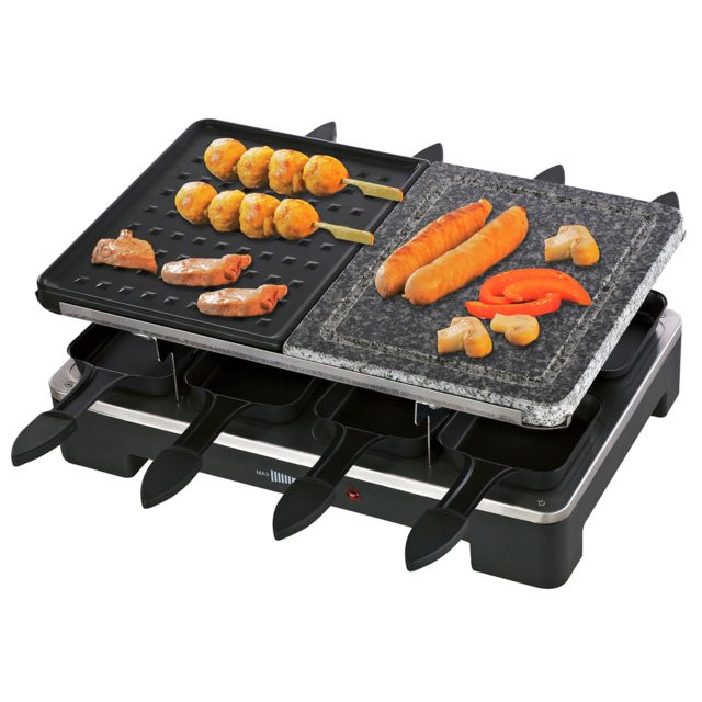 Triomph Appareil à raclette/grill/pierre à griller 1400W - 8 personnes
