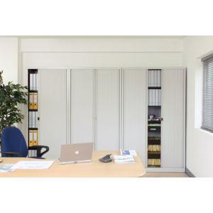 bisley armoire a rideaux euro 4 tag res noir pas cher achat vente armoires. Black Bedroom Furniture Sets. Home Design Ideas