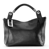 Oh My Bag - Sac à Main cuir femme - Modèle Paris le vrai A4, noir