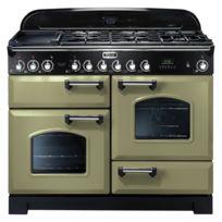 Falcon - Cuisinière gaz Classic Deluxe 110 Cdl110DFOG/C-EU Vert olive chrome