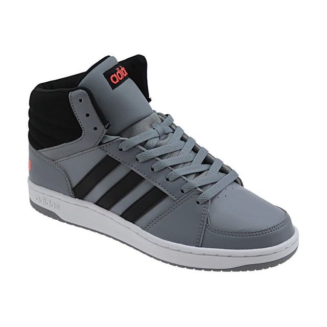 Adidas Vs Hoops Mid B74503 Homme Baskets Gris pas cher