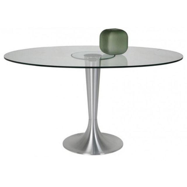 inside 75 table ovale possibilita pied tulipe m tal bross transparent 75cm x 140cm pas. Black Bedroom Furniture Sets. Home Design Ideas