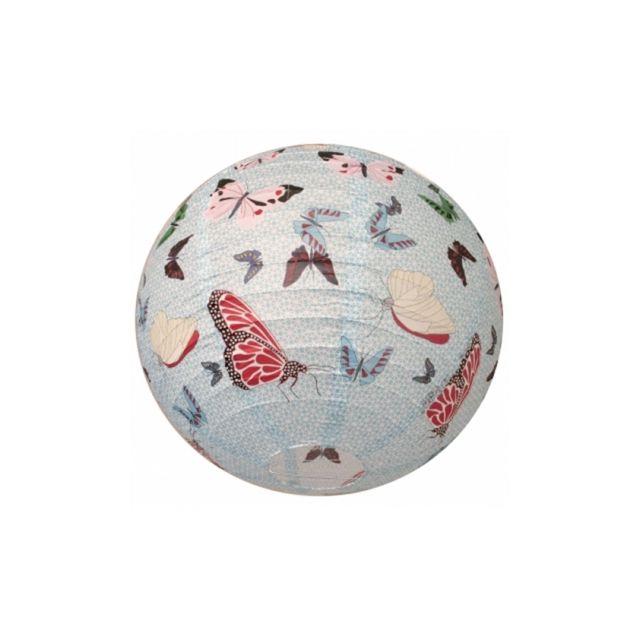 ouvre&deco . Luminaire et susp Suspension boule japonaise Décoration Papillon