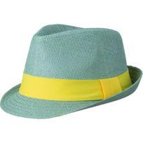 Myrtle Beach - Chapeau été léger - ruban contrasté- adulte - Mb6564 - gris  ruban 2c4f288b500