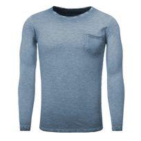 Carisma - T shirt manche longue T-shirt Crsm3174 bleu indigo