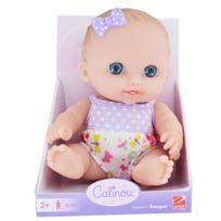 Calinou - Poupée 22 cm : Poupée blanche aux yeux bleus