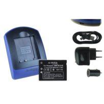 mtb more energy® - Batterie + Chargeur USB, Dmw-bcg10E pour Panasonic Lumix Dmc-tz8, Tz9, Tz10