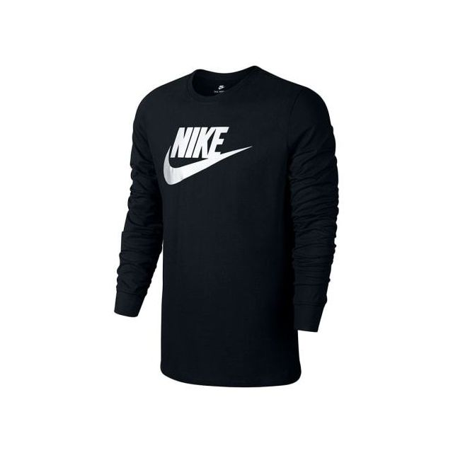 best prices look out for huge discount Nike - Tee-shirt à manches longues Futura Icon noir blanc ...