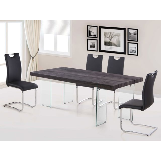 fa304876327 HABITAT ET JARDIN - Table repas Vivia - 200 x 100 x 75 cm - Taupe ...