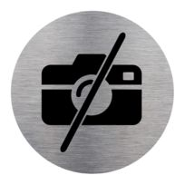 Diam/ètre 83 mm Adh/ésif dinformation Premiers Secours Aspect Plaque Aluminium Bross/é