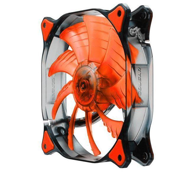 COUGAR Ventilateur LED - D12HB-R, LED rouges- 120mm La série CFD de COUGAR vous offre une combinaison unique de caractéristiques et de matériaux qui maximise le refroidissement et la durabilité