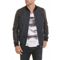 Napp Jeans - Blouson College denim jacket black/blue
