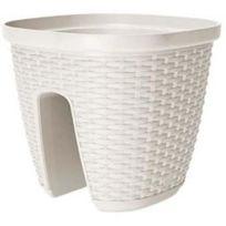 Emsa - Casa Mesh Pot balustrade a réserve d'eau blanc 30cm