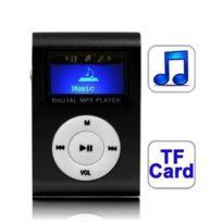 Wewoo - Lecteur Mp3 noir de carte Tf Micro Sd Mp3 avec écran Lcd, clip en métal