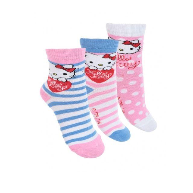 55edf2bbf569b Hello Kitty - 4 paires de chaussettes 31 34 - pas cher Achat   Vente ...