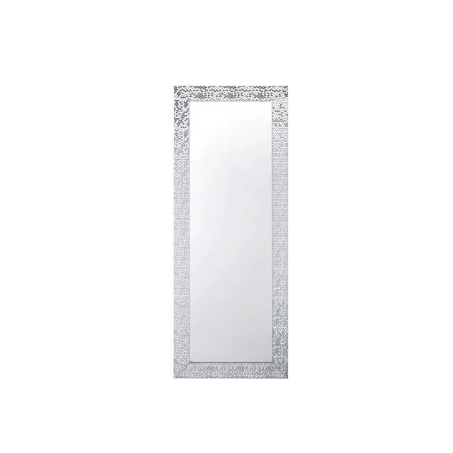 BELIANI Miroir argenté 50 x 130 cm MARANS - blanc