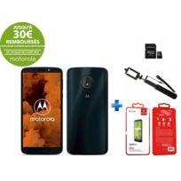 MOTOROLA - Moto G6 Play Bleu + Carte mémoire 32Go + Perche à selfie noire + Verre trempé