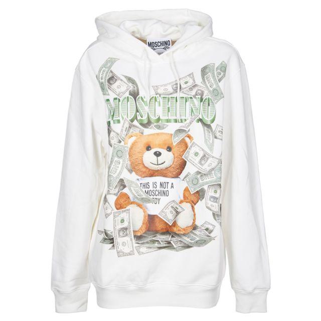 MOSCHINO Femme V171354273002 Blanc Coton Sweatshirt