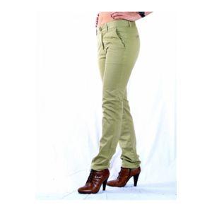 Le temps des cerises pantalons chino vert pas cher - Pantalon treillis femme le temps des cerises ...