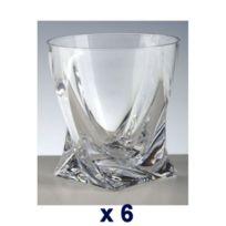 Cristal de Paris - Gobelets Whisky cristal Quadra blanc boîte de 6