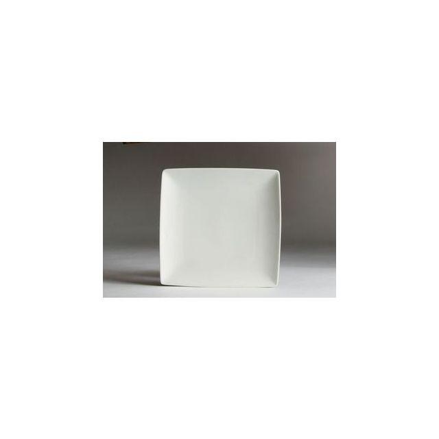 Az boutique Assiette carrée blanche 18 x 18cm en porcelaine - A l'unité - Yong