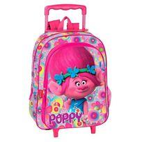 Trolls - Sac à dos à roulettes maternelle Poppy Happy 37 Cm trolley - Cartable
