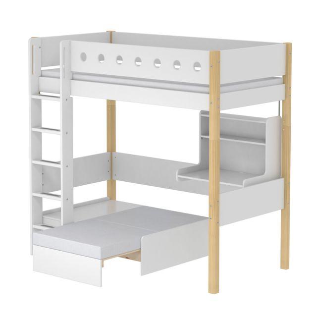 Flexa Lit mezzanine évolutif Casa White 90x200